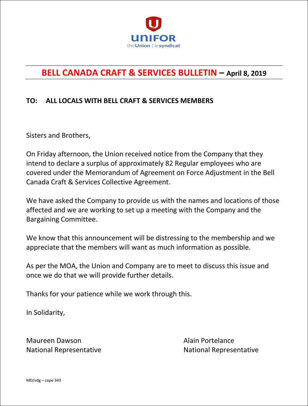 Bell Canada Craft Services Bulletin -  April 2019.jpg