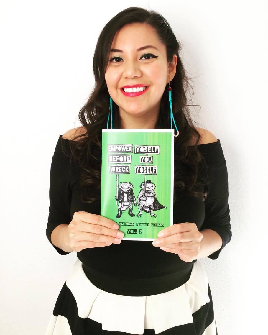 Amber McCrary, co-creator of Native American Feminist Musings zine.