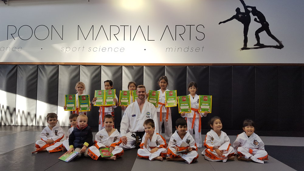 Monday afternoon Kubz class at Van Roon Martial Arts