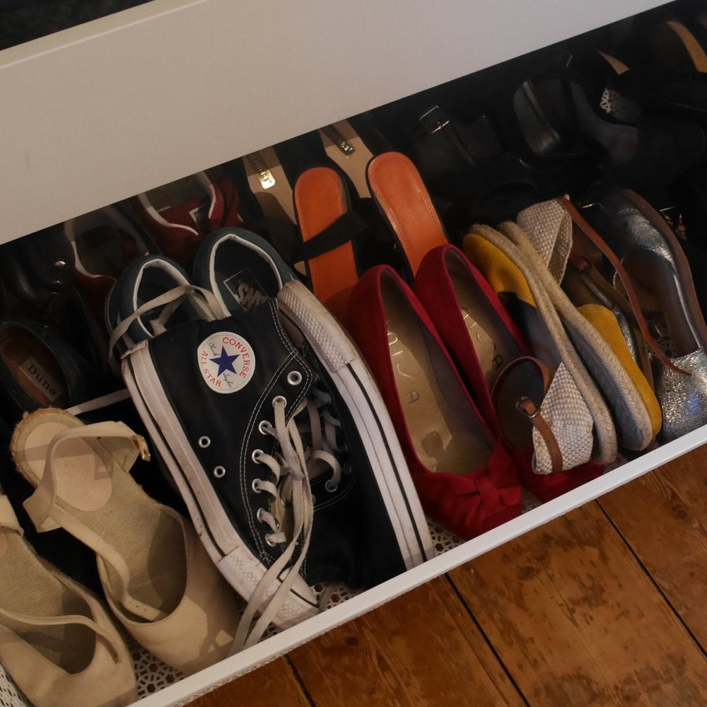 Yes I still own about 20 pairs of shoes but I wear them all; so no need to get rid of any just yet!