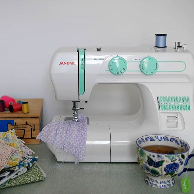 The weather has been pretty 🌬️🌧️ today! So this afternoon was spent drinking @pukkaherbs tea and setting up my @janomeuk sewing machine.  ___ I found it easier to set up than expected as I haven't used a sewing machine for 10 years 🤪 plus used a few scrap pieces of fabric to test out the stitches! I'm going to start small with some simple projects but I hope to eventually start making clothes! So watch this space!  ___ How did you spend your Sunday? ___
