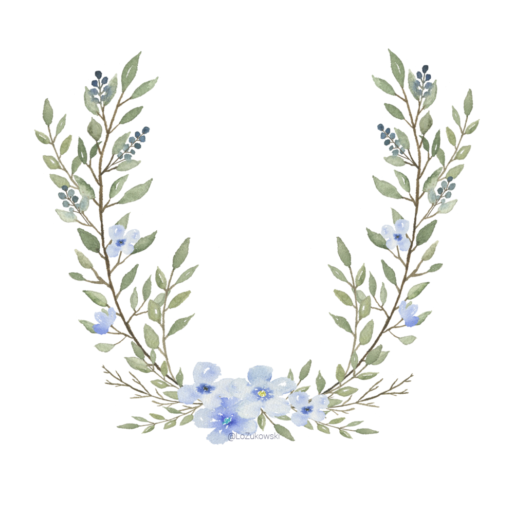 Blue Laurel Motif.png