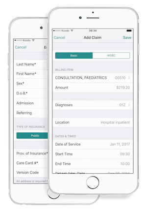 Medical Billing iPhone App