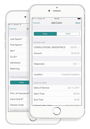 OHIP Billing App for iPhone