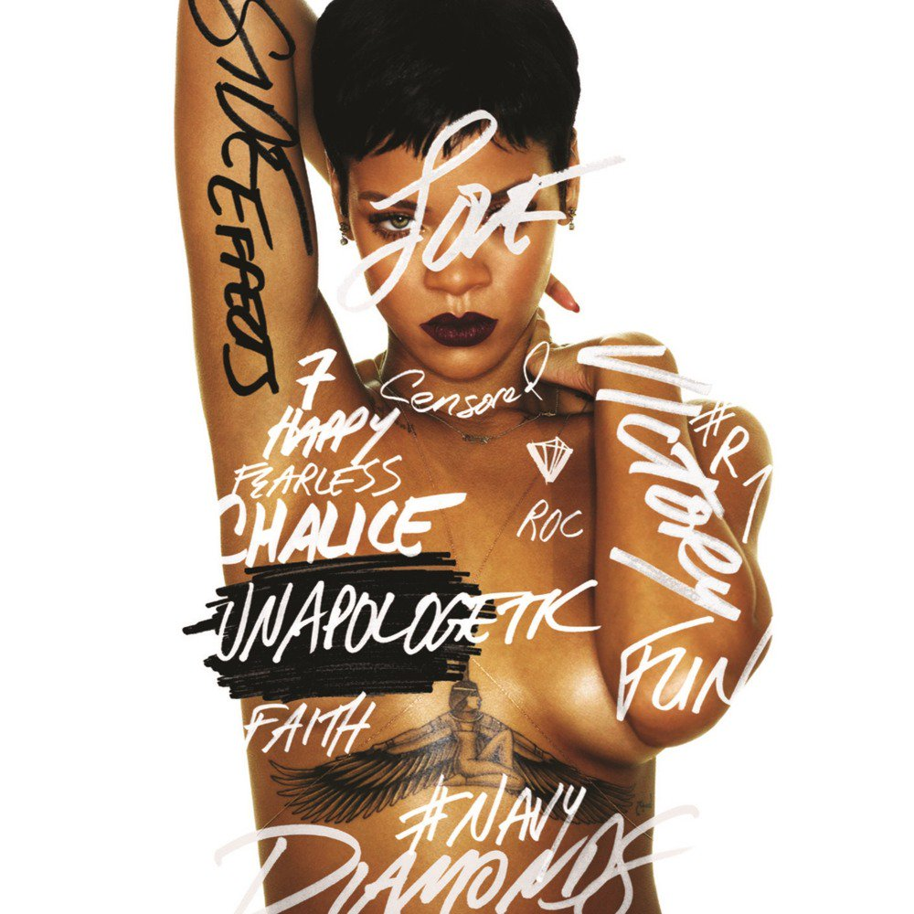Fig 1. Rihanna,  Unapologetic  - Album cover