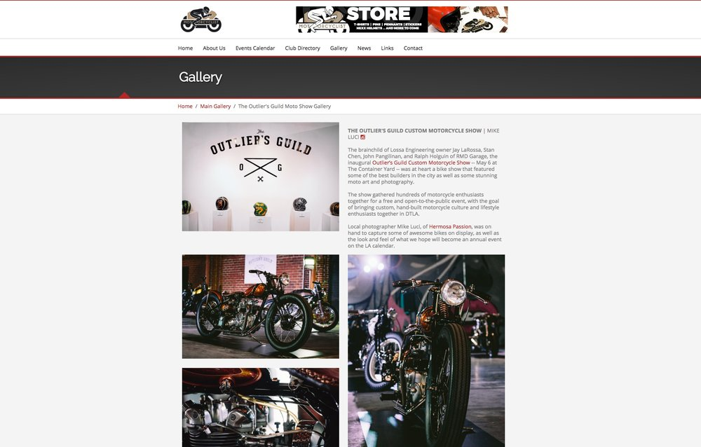 Event coverage on LA Motocyclist