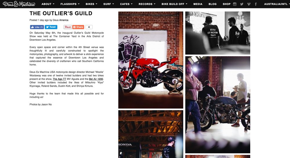 Event Coverage on the Deus ex Machina Website