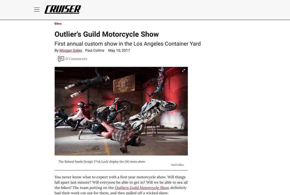 Event Coverage on Motorcycle Cruiser
