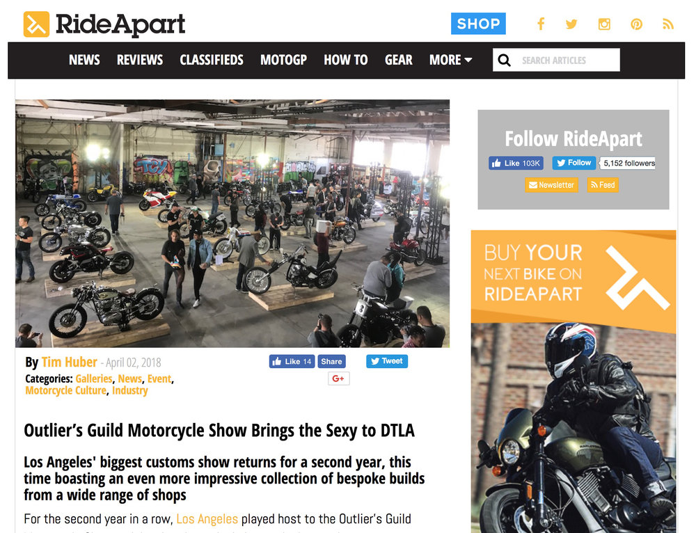 Featured on Ride Apart