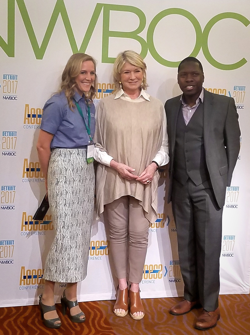 Pictured above from left to right: Megan Smith, CEO of Symbia Logistics; the iconic Martha Stewart; and Willie Johnson, Procurement Manager for CHEP USA