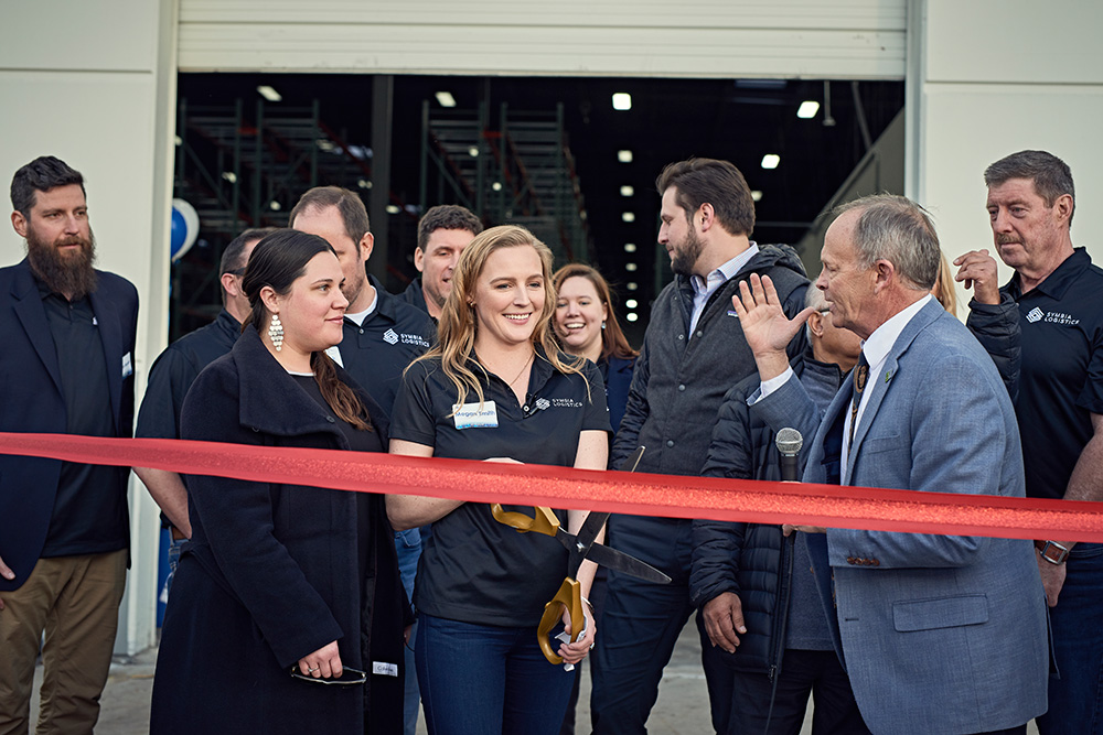 Ribbon cutting ceremony with CEO Megan Smith, led by The Aurora Chamber