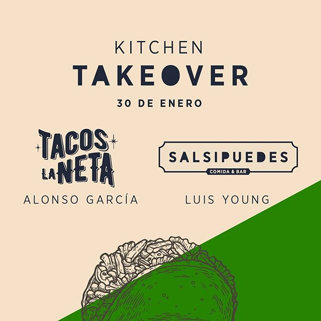 ¡Salsipuedes se pone chingón con un Open Tacos!  Nuestro próximo Kitchen Take Over será con @lonshox de @TacosLaNeta junto a @chefluisyoung el lunes 30 de enero a las 7:00 p.m. Cinco opciones de tacos a escoger:  Short Rib Carnitas Pato Pollo Cobia al Pastor  Además, te invitamos la primera pinta nacional, chelada o michelada.  Precio: $30  Reservas: 294-7800