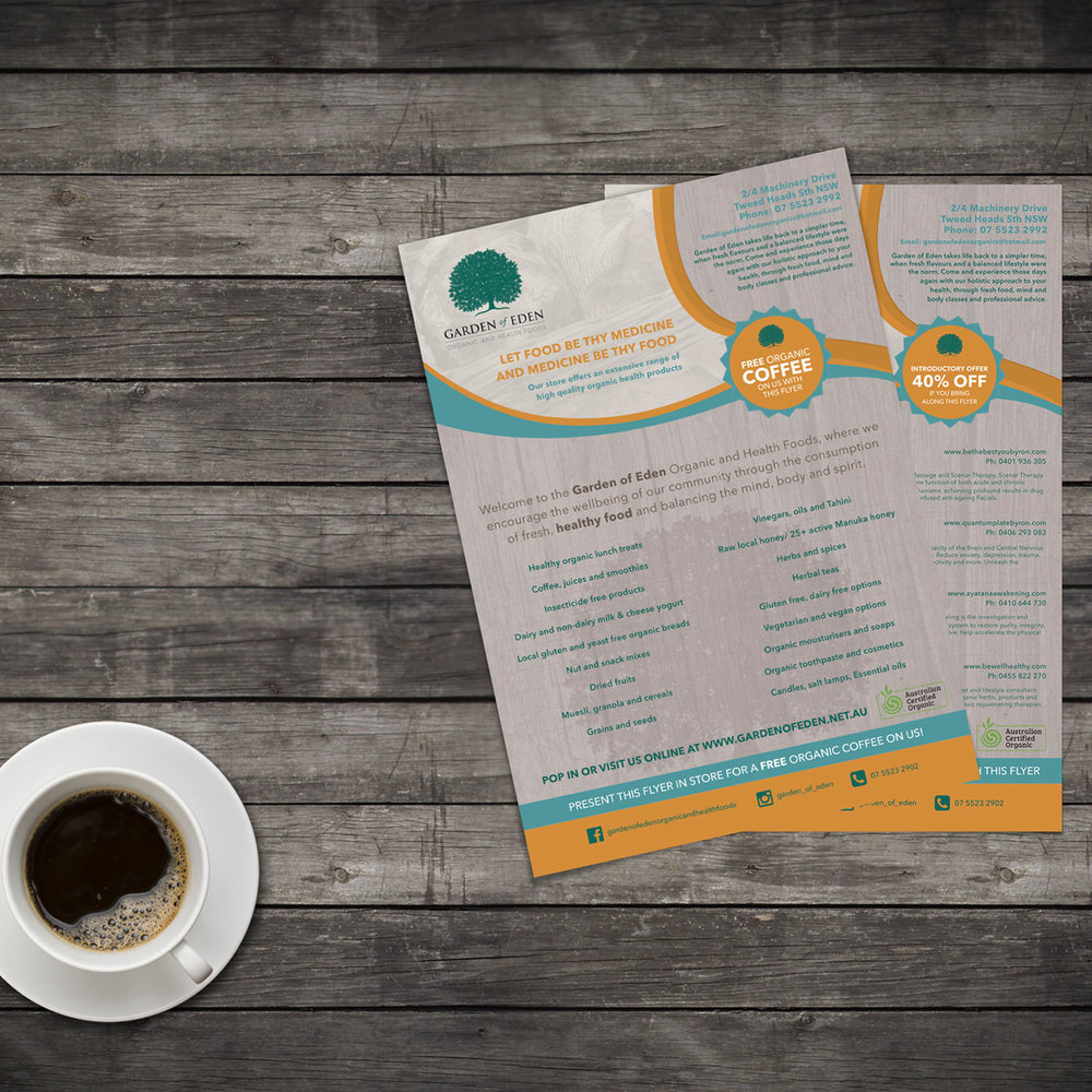 Leaflet Print Design Garden Of Eden View Projects