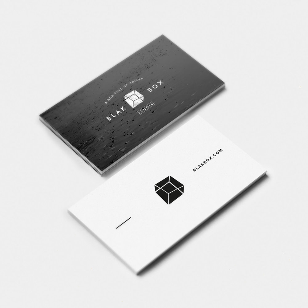Logo, Business cards Blakbox Studio View Project