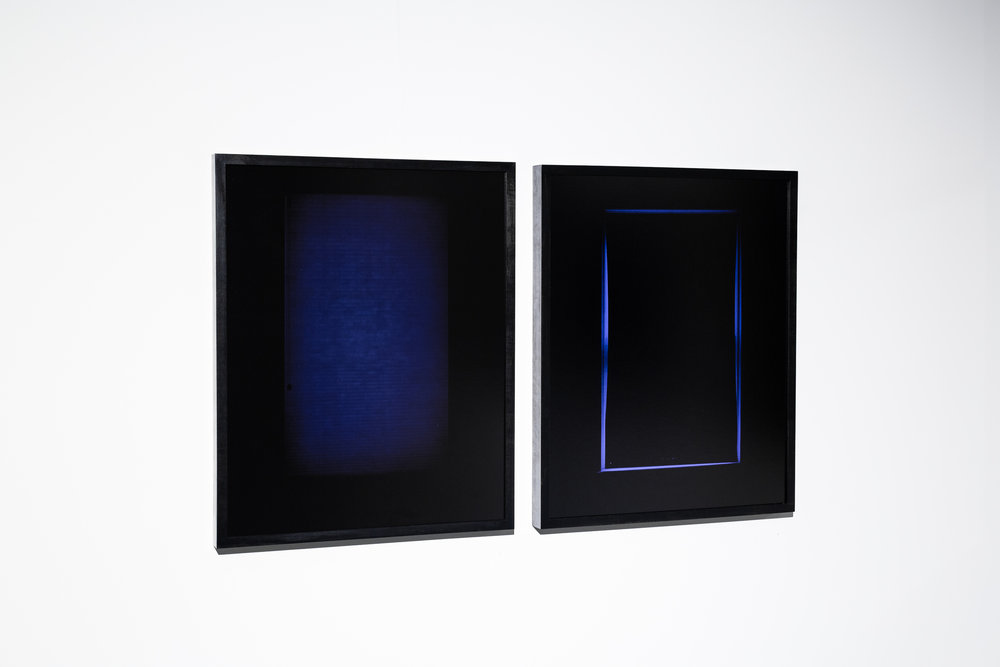 Luc Demers / Moonlit #6 + #2 / archival pigment print on anodized aluminum / 25 in x 20 in (Edition of 10) / 2013