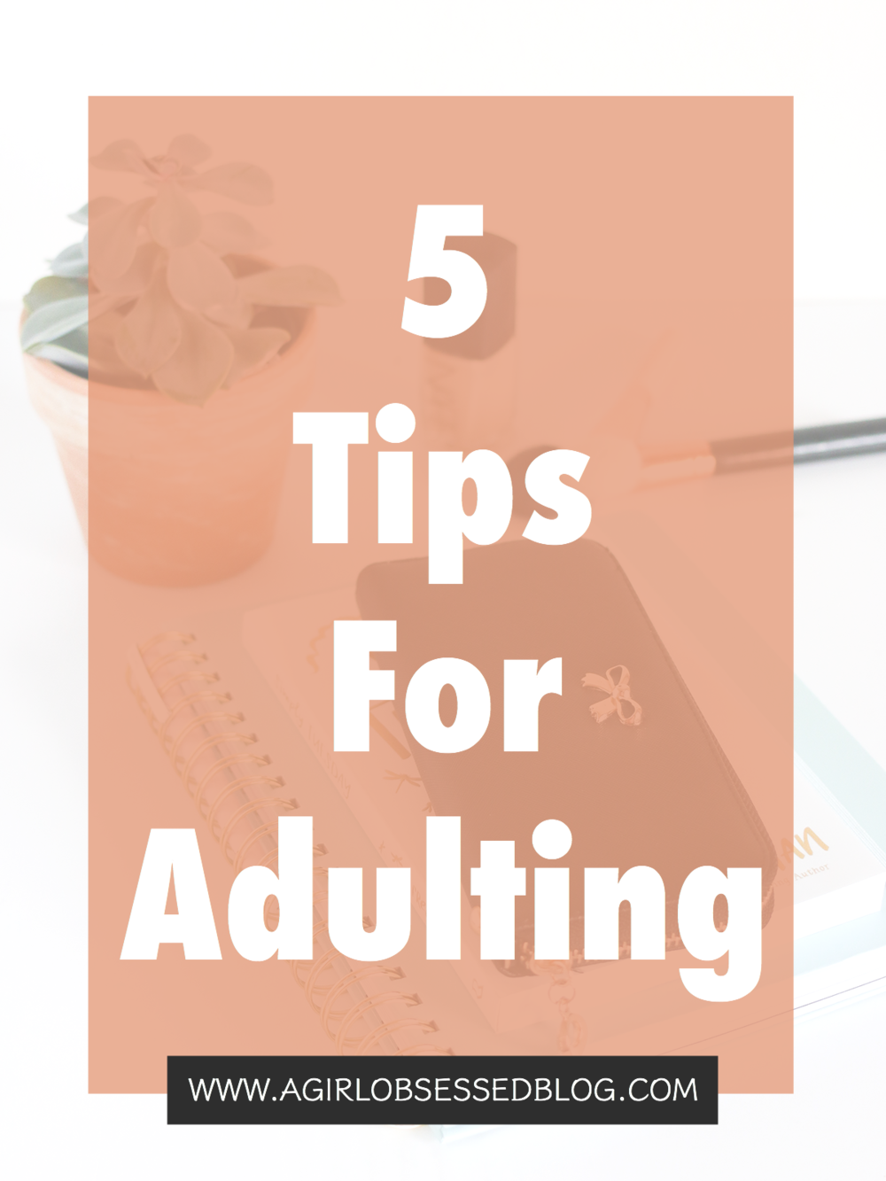 5 Tips For Adulting | A Girl, obsessed