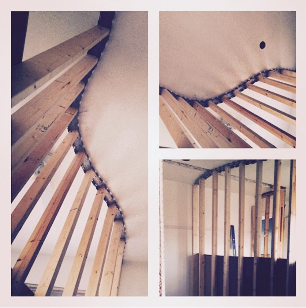 Curved wall loft construction.