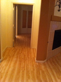 Custom wood floors throughout entire home.
