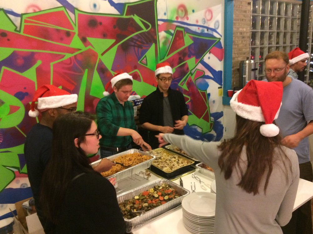 We were fortunate to have many volunteers on hand to help plating and serving!
