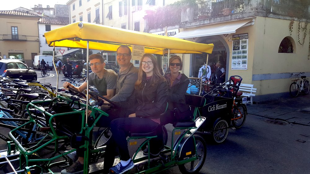 Lucca family bike vacation
