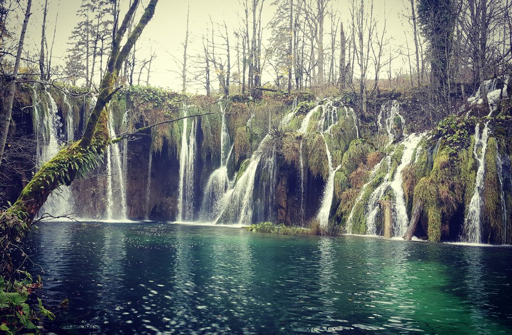 Peaceful, tranquil Plitvice Lakes in the off-season