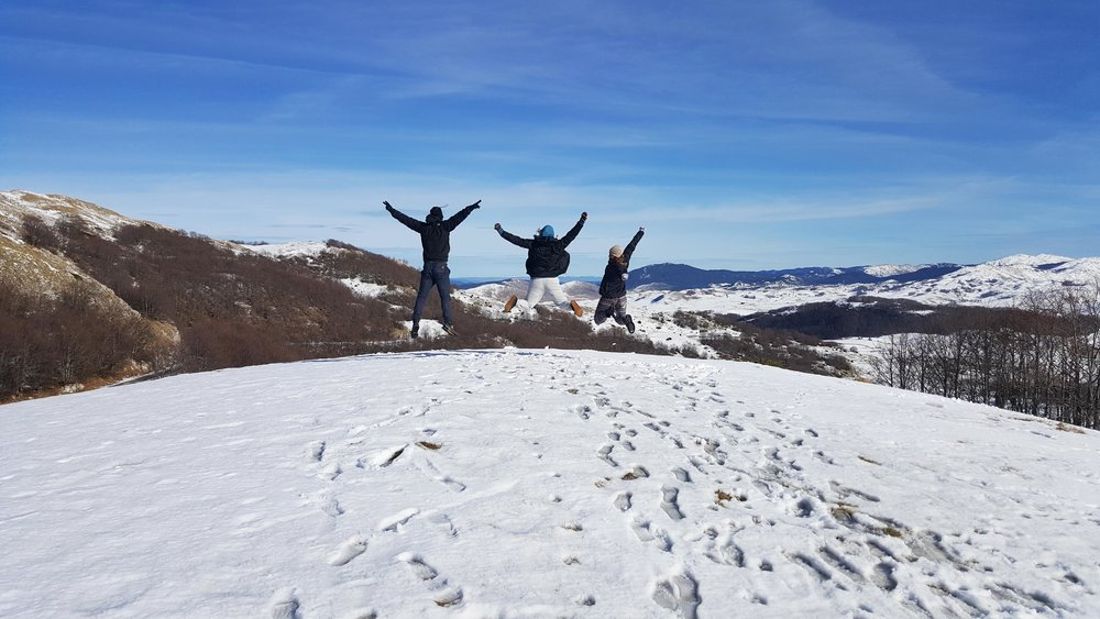 Jumping at Durmitor National Park
