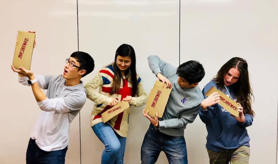 Left to Right :  Joshua Kim, Jasmine Kim, Byron Pang, Morgan Lewis  (MS Engineering Design Innovation 18')