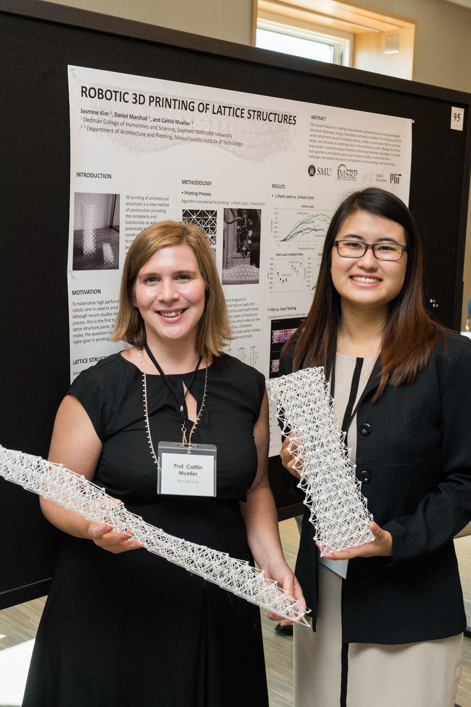 Left to right:  Caitlin Mueller  ( Faculty at Massachusetts Institute of Technology),  Jasmine Kim  (MS EDI 18' Northwestern University)