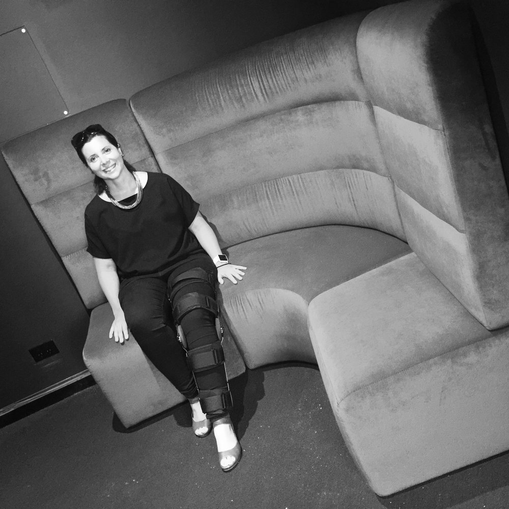 Inbox 2.0 | Associate Suzanne Goodson testing out the new furniture