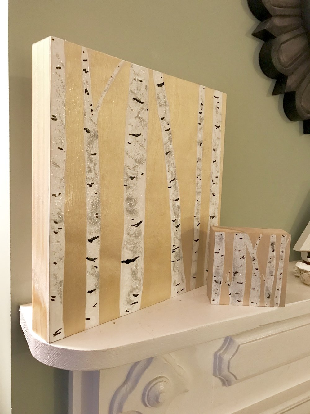 Birches on Birch Panel