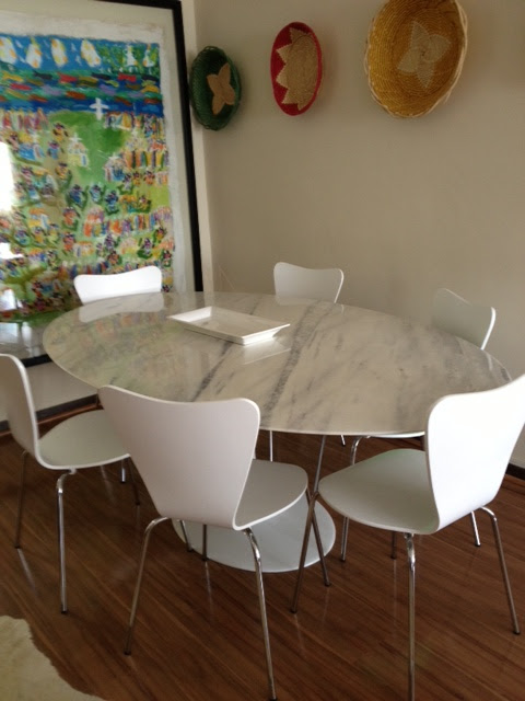 Tulip Table Chair Upgrade Alison Giese Interiors