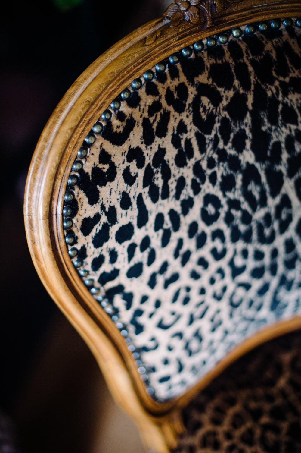 Vintage leopard chair