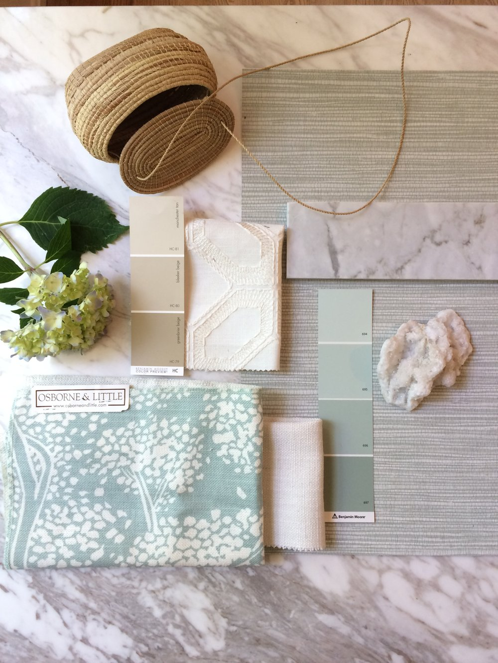 A seagrass-inspired color palette we recently pitched to a client.