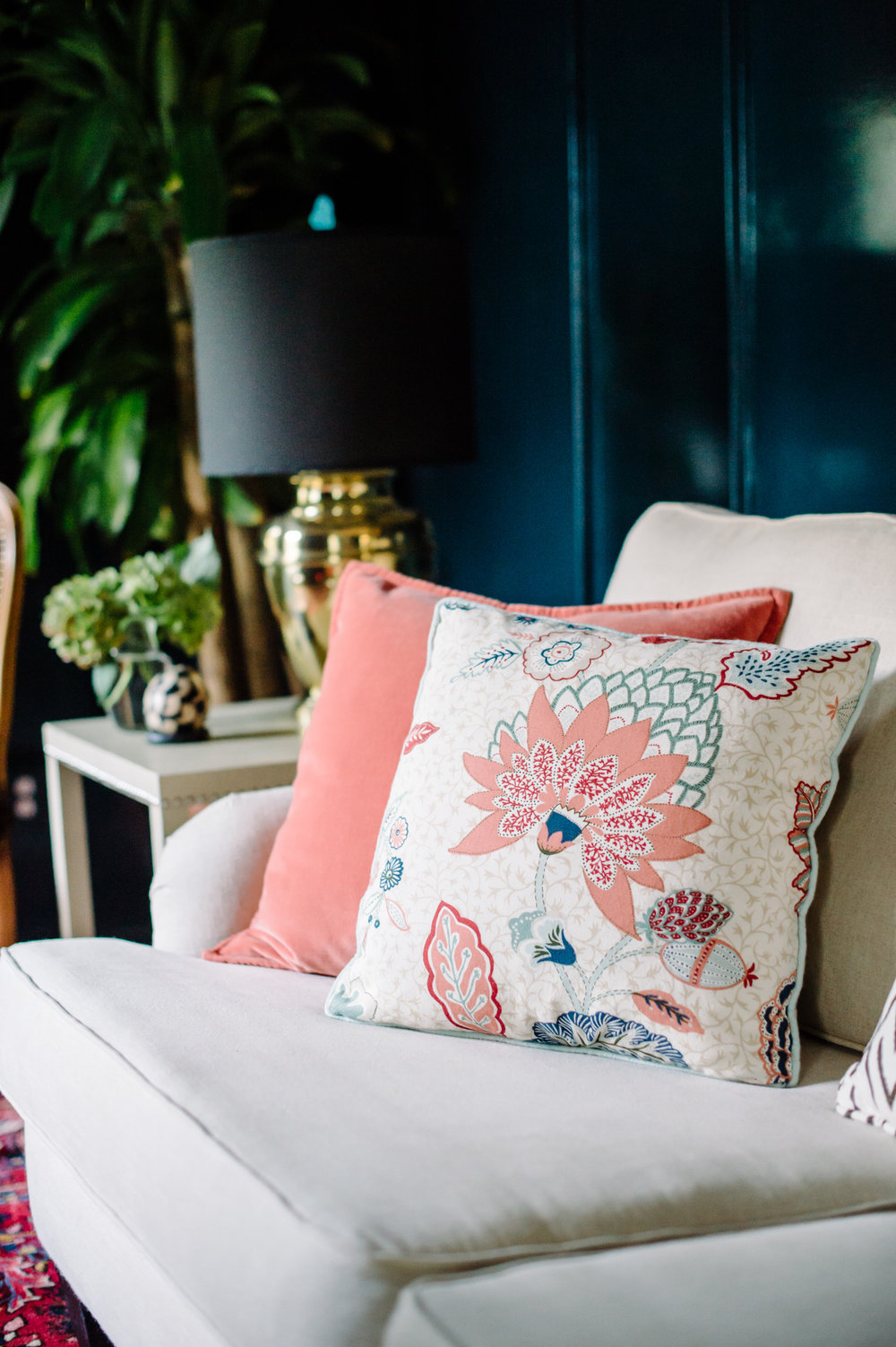 Pillows and accessories are part of the final implementation.    Photo:  Robert Radifera     Styling:  Charlotte Safavi
