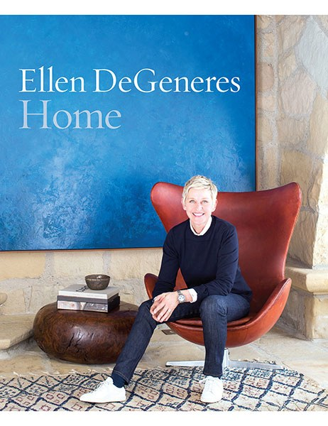 HOME,  Ellen Degeneres      In HOME, Ellen will, for the first time, share her passion for home design and style and invite the reader inside her homes. DeGeneres believes, 'You don't have to have money to have good taste,' and in this book she offers design ideas and advice she has learned from decorating each of her homes.    Available at  Folio Books by clicking here.