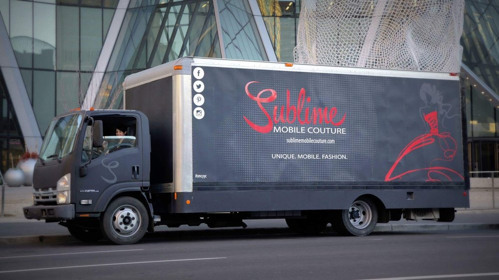 Our mobile fashion truck with the look and feel of an upscale walk in closet, offering 20 feet of beautifully displayed unique fashion designs and private change rooms.