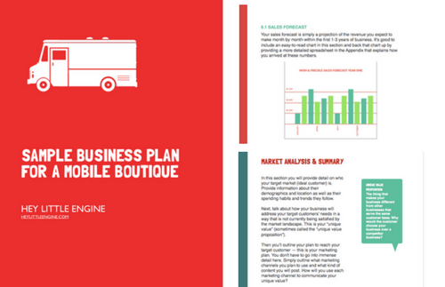 fashion truck business plan template
