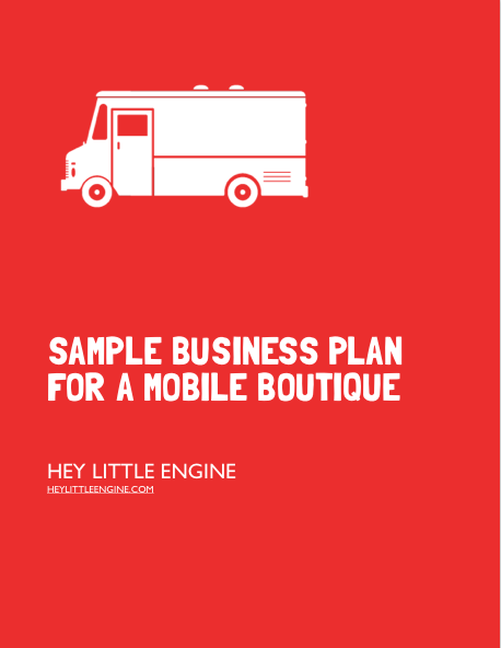 Buy Our Mobile Boutique Business Plan Template Just 29