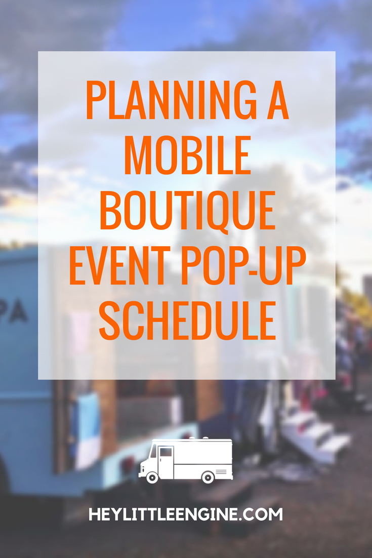 Planning a Mobile Boutique Event Pop-Up Schedule