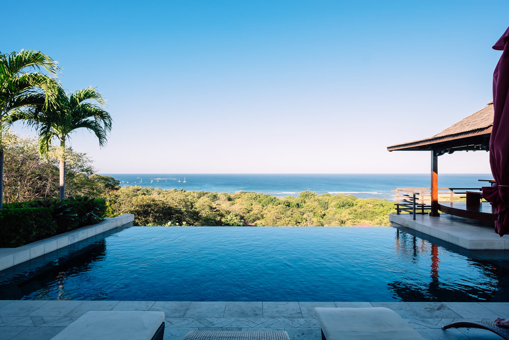 View from the infinity pool, Casa Bali