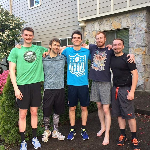 5 Beaver Lodgians and a 5k. We're always happy to support the Theta's in the IronBrawl!  #IronBrawl #IronBrawl5K #BeaverLodge #BeaverLodgeThings