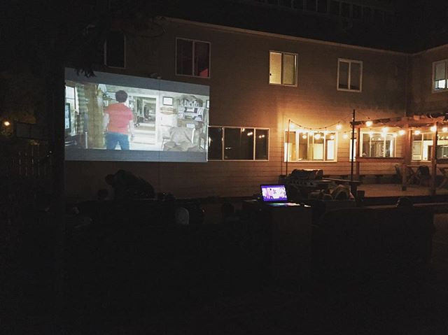 Projector Movie Night at The Beaver Lodge 🎥 #BeaverLodgeThings #TheBeaverLodge #movienight🎬