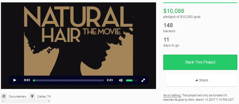 Natural Hair The Movie KickStarter