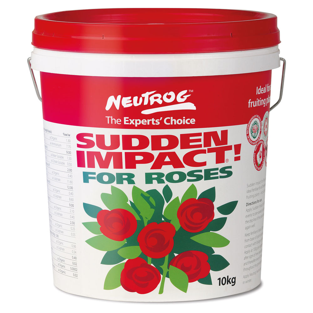 Sudden Impact for Roses from $9.98  // Available in 300gm, 1.5kg, 4kg, 10kg & 15kg containers.
