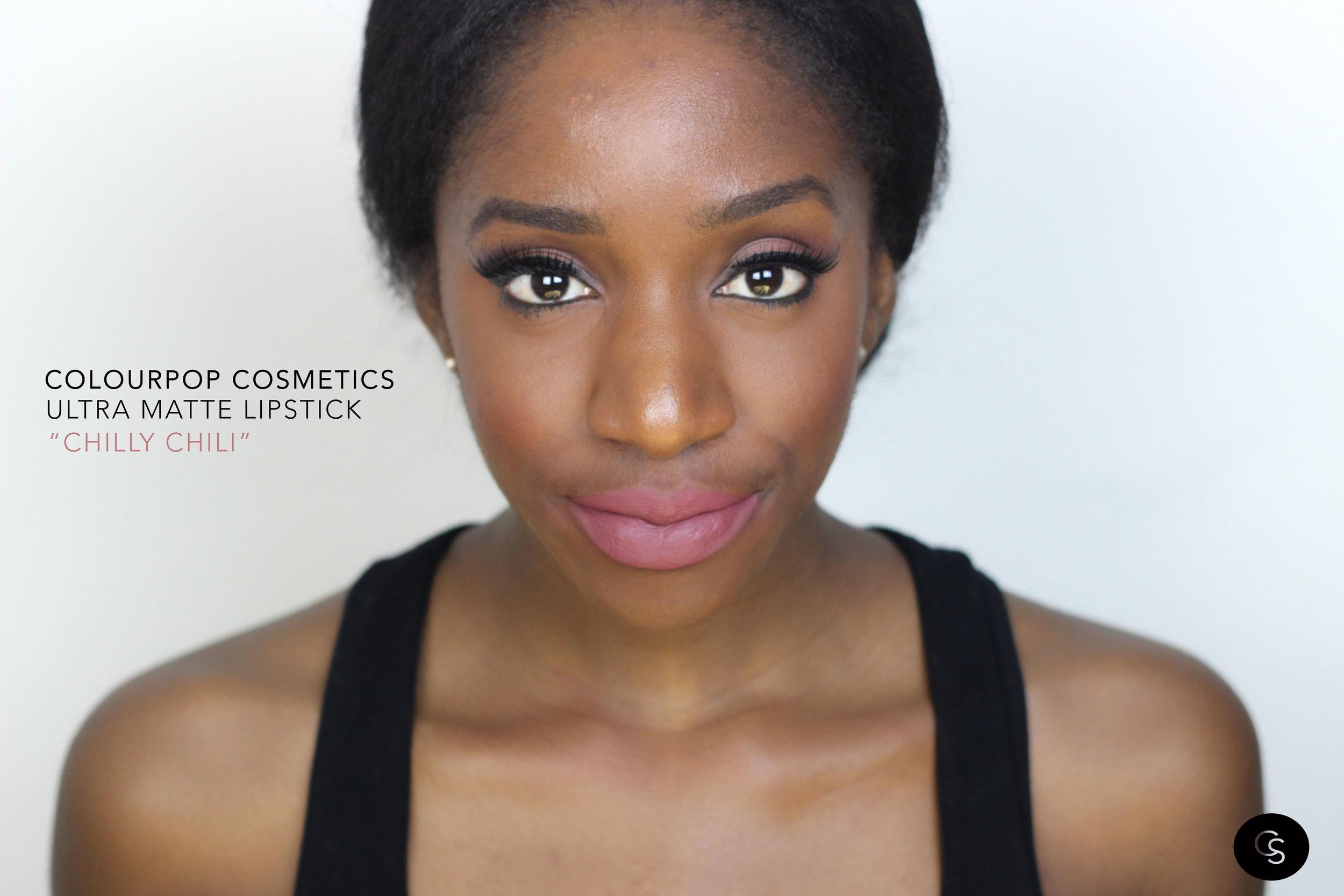 chilly chili colourpop cosmetics on dark skin