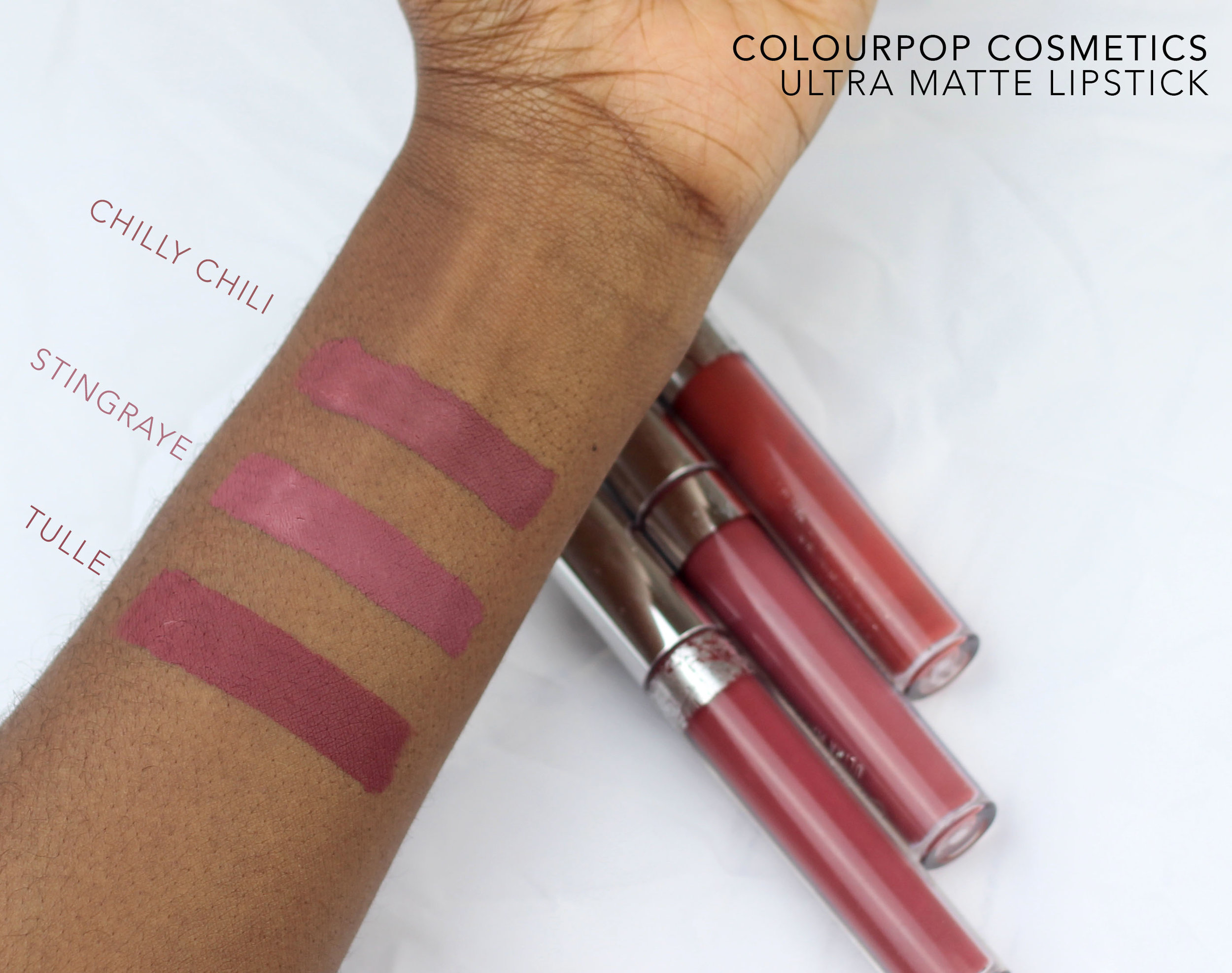 colourpop ultra matte comparison