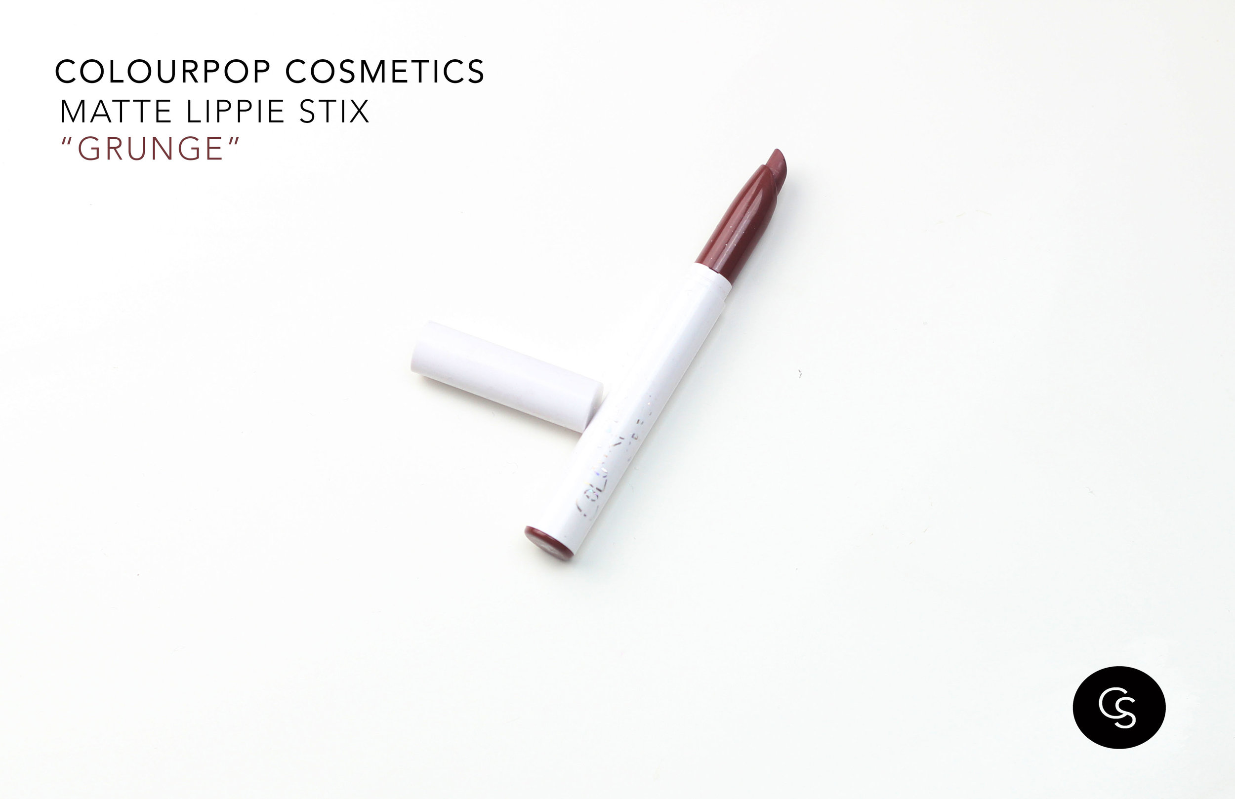 colourpop lippie stix grunge dark skin swatch