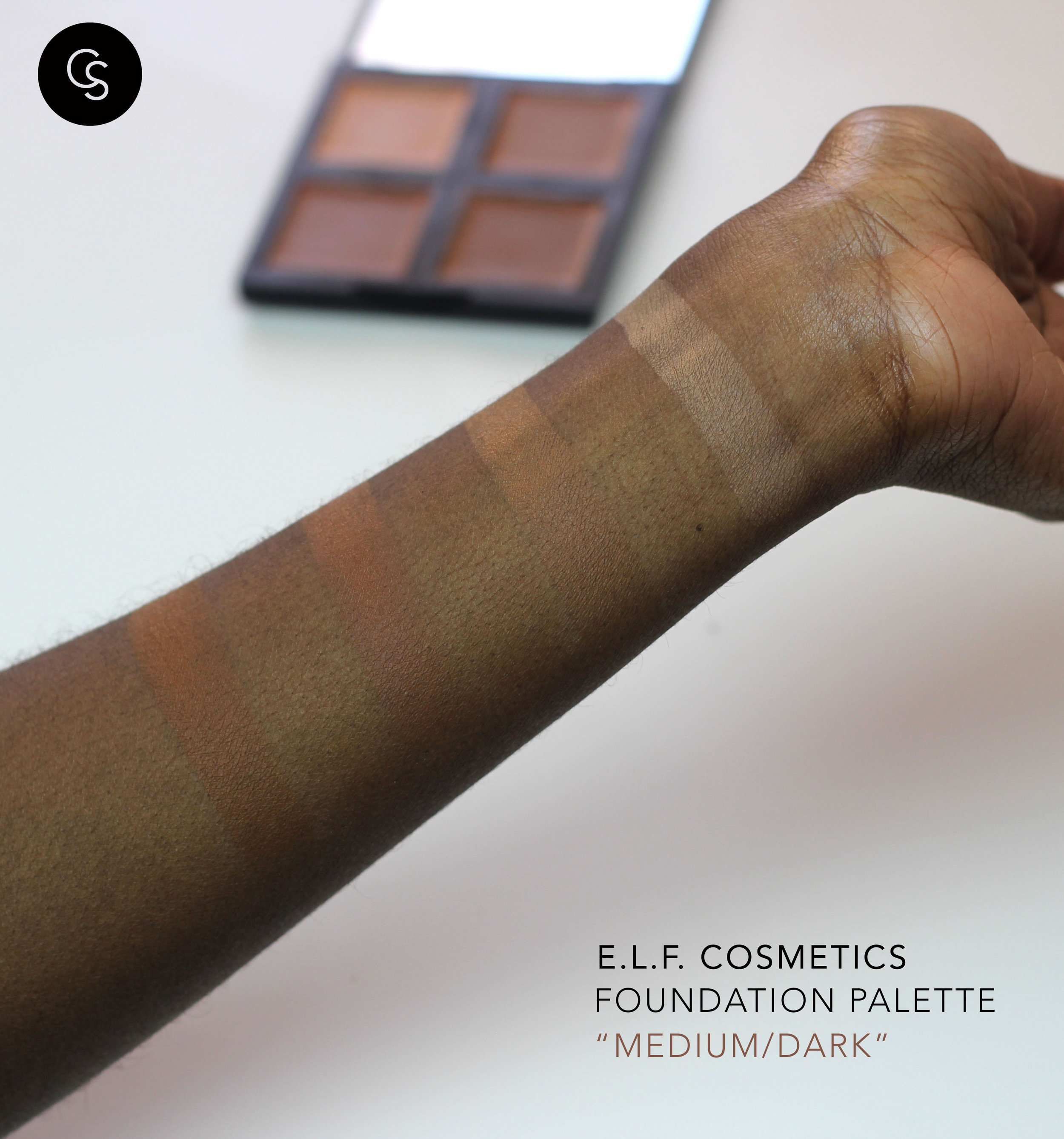 elf foundation in medium/dark