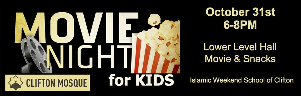 Join us on October 31st from 6-8 PM for kids movie night.  Snacks will be served.