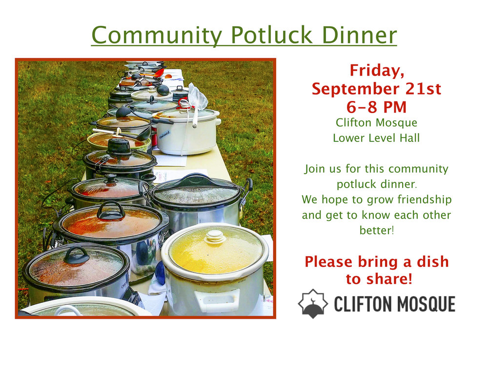Come meet our community. Please bring a dish to share.